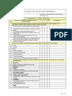 Lista de chequeo para inspeccion de herramientas