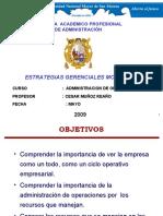 ADMINISTRACION DE OPERACIONES 2009 - I