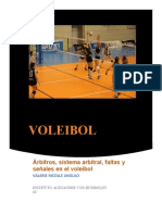 arbittros en el voleibol