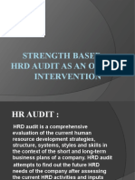 HR Audit as OD-intervention