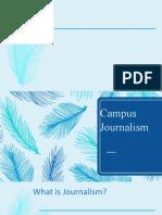 Campus Journalism re echo