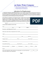 Application for Employment - All Companies