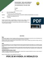 IPERCE DE MI VIVIENDA Y PROTOCOLO DE BIOSEGURIDAD PARA EL COVID 19