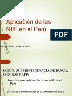 aplicacion de las  NIC-NIIF