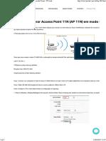 Como configurar Access Point 11N (AP 11N) em modo Client - TP-Link