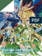 Sword art online 17. Alicization Awakening(Underworld)