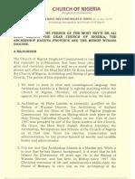 The Attack on the Person of the Most Rev'd Dr Ali Buba