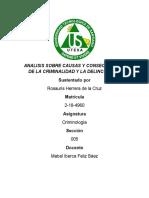 CAUSAS Y CONSECUENCIAS DE LA CRIMINALIDAD Y LA DELINCUENCIA(ROSAURIS HERRERA 2184960).docx