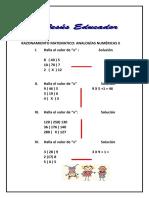 Analogias numericas raz mat II