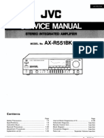 AX-R551XBK Service Manual