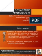 SITUACIÓN DE APRENDIZAJE #1