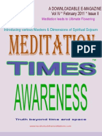 Meditation Times February 2011