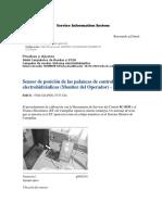 Sensor de posición de las palancas de control electrohidráulicas (Monitor del Operador) - Calibrar