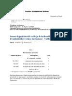 Sensor de posición del varillaje de inclinación y de levantamiento (Técnico Electrónico) - Calibrar