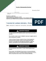 Velocidad del ventilador hidráulico - Probar y ajustar