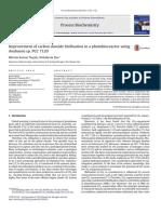 Improvemet of carbon dioside biofixation in a photobioreactor using Anabaena sp