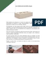 Proceso de fabricación de ladrillos cara vista de gres