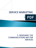 Designing the communication mix for services