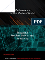 Module 3 PROBLEM SOLVING AND REASONING