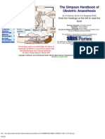 Handbook of Obstetric Anaesthesia
