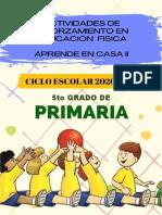 5° Primaria planeacion educaion fisica