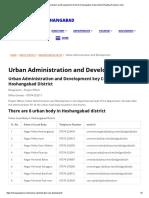 Urban Administration and Development _ District Hoshangabad, Government of Madhya Pradesh _ India