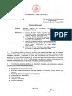 Revised Circular-Revised Protocol for Inter-State Travelers to Karnataka (Version-3)