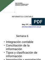 6 Semana Inf Cont - 2019-II Integracion Contable