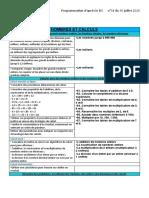 Programmation Mathématiques Cm2 d'Après BO Juillet 2020