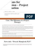 Questions for Discussion – Project Termination-Muhammad Sihwan Abdullah-29118411