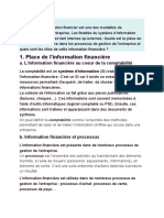 information financiere