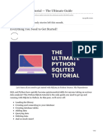 Python SQLite Tutorial - The Ultimate Guide