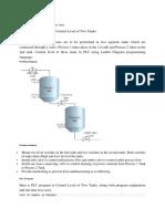 PLC Program to Control Level of Two Tanks