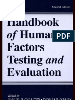 (2) Hand Book of Human Factor and Evaluation