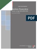 Correction de l'examen final 2013-2014 de la gestion financière_S4