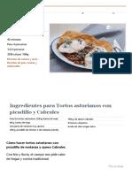 Tortos asturianos con picadillo y Cabrales - Recetas de rechupete - Recetas de cocina caseras y fáciles