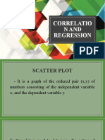 8. CORRELATION and REGRESSION