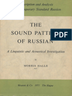 (Description and Analysis of Contemporary Standard Russian 1) Morris Halle, Lawrence G. Jones - Sound Pattern of Russian_ A Linguistic and Acoustical Investigation, with an Excursus on the Contextual .pdf