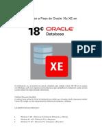 Instalación Paso a Paso de Oracle 18c XE en Windows