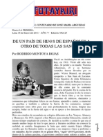 DE UN PAÍS DE HIJ@S DE ESPAÑOLES A OTRO DE TODAS LAS SANGRES