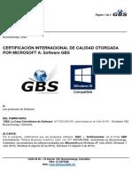 Software Contable GBS Respaldado Por Microsoft Windows 7-8-10