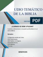 presentación tour de la Biblia