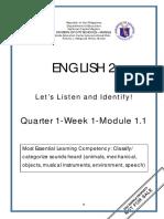 ENGLISH 2_Q1_W1_Mod1.1_Classify Categorize Sounds Heard