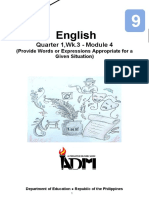 Eng9_Q1_Mod4_Wk3_Provide-Words-or-Expressions-Appropriate-for-a-Given-Situation_Version3