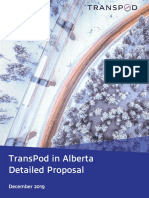 2020 08 TransPod Project Proposal for the Government of Alberta