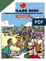 Programme de la 9e édition de  BD Plage