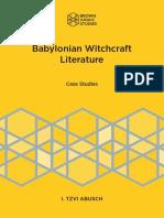 Abusch - Babylonian Witchcraft Literature.pdf