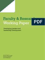 1 Developing Leaders and Leadership Development