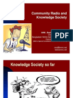 Community Radio and Knowledge Society