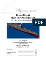 Design Report of a ship